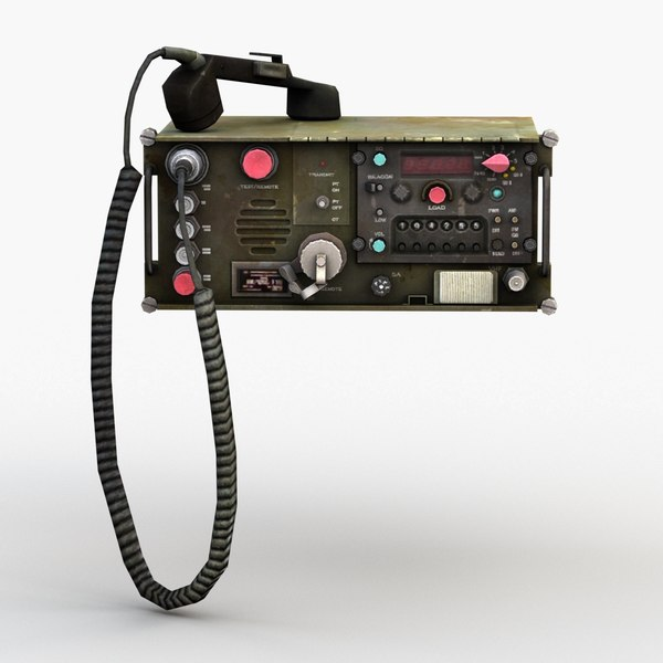 3D model military communication radio