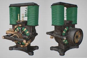 vintage motor 3D model