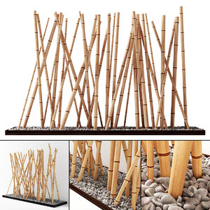 3D decor bamboo model