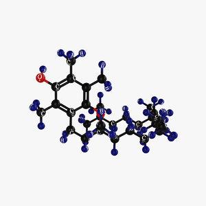 vitamin e-molecular 3D