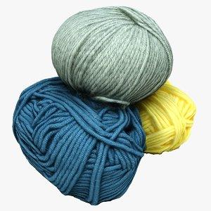 3D balls wool model