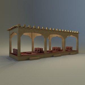 arab majlis 3D model