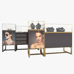 display cabinet luxury items model