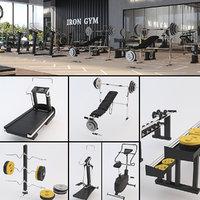 fitness equipment 3D