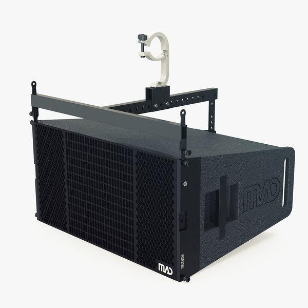 hd22 concert speaker 3D model