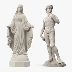 3D stone statue
