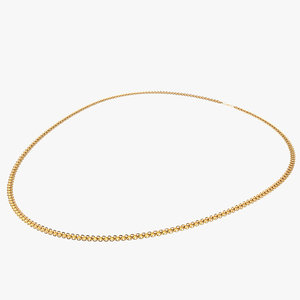 3D model gold chain necklace