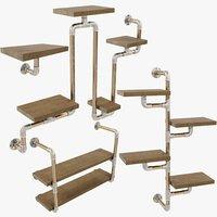 3D loft shelfs v1 model