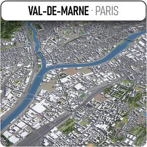 3D val-de-marne - grand paris model