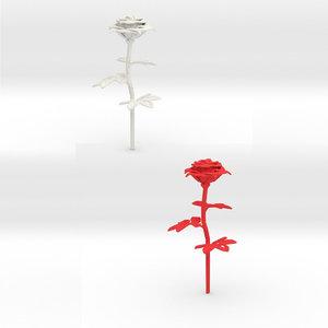 rose flowering 3D model