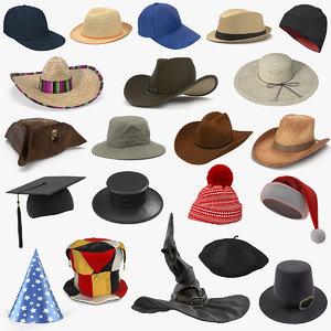 3D model hats 5