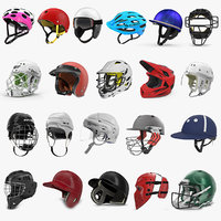 3D sport helmets 5 model