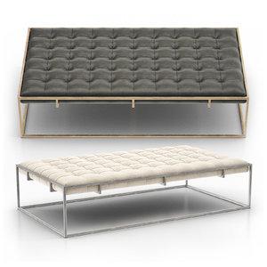 3D ottilie ottoman bench model