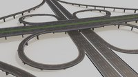 highway intersection 3D