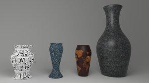 3D different vases model