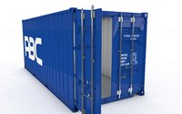Container 20ft Animated and Rigged