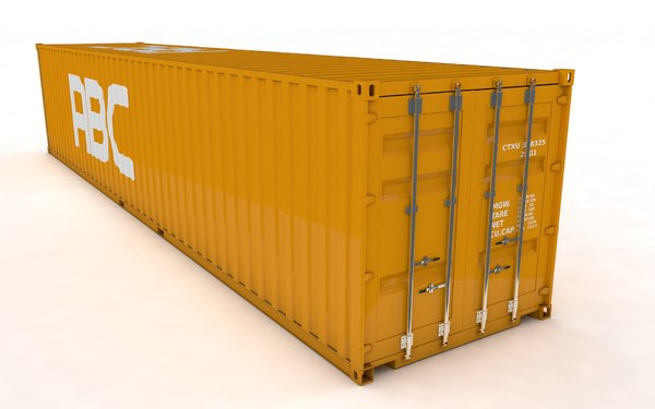 container rigged 3D model