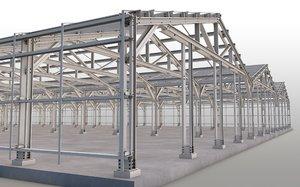 3D steel construction model