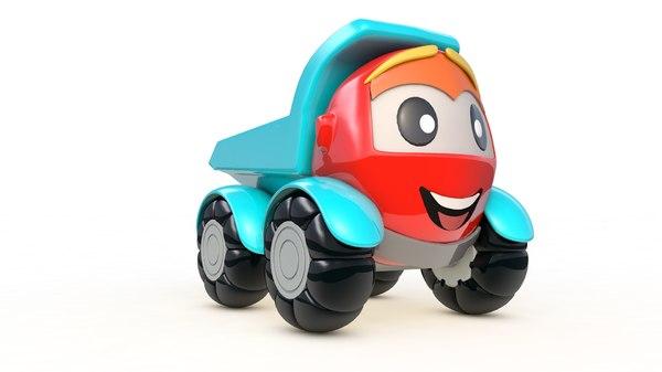 toys lorry cartoon 3D model