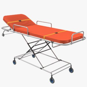 ambulance bed 3D model