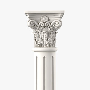 3D corinthian greek ancient column