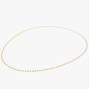gold chain necklace 3D
