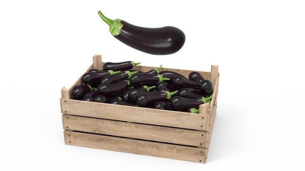 aubergine box 3D