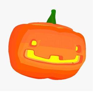 cute pumpkin 3D model