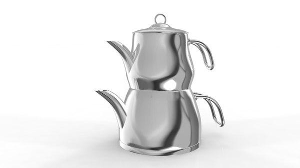 teapot tea cup 3D model