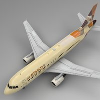 3D model etihad airways airbus a320
