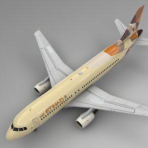 3D model etihad airways airbus a320
