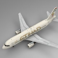 etihad airways airbus a320 3D model