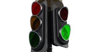 traffic light animate 3D model