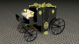 horse carriage count dracula 3D model