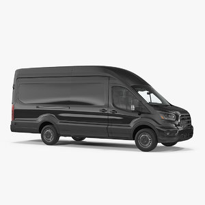 3D cargo van generic car auto model
