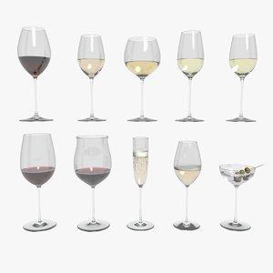 3D riedel superleggero wine