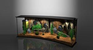 panoramic aqua tank 3D model