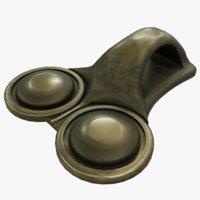 3D brass shoelace eyelet