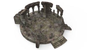 architecture building ruin 3D model