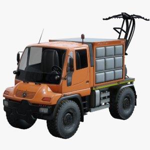 3D mercedes benz unimog u400
