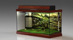 3D tropical aquarium
