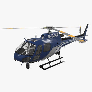 3D model helicopter san jose police