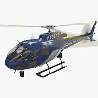 helicopter as-350 san jose 3D model