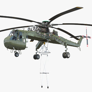 heavy-lift helicopter sikorsky s-64 3D model