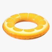 Orange Swimming Pool Float Ring