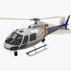 3D helicopter as-350 royal canadian