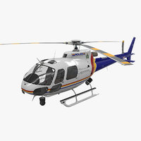 helicopter as-350 royal canadian 3D
