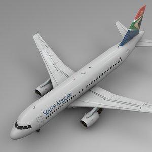 south african airways airbus 3D model