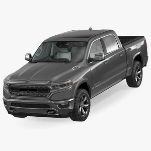 3D model pickup truck dodge ram
