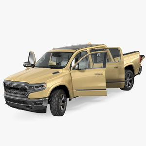 pickup truck generic car 3D model